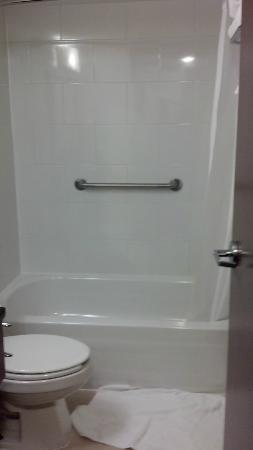 BEST WESTERN PLUS Chocolate Lake Hotel: Toilet, bathtub, and shower. All looked nice and clean.