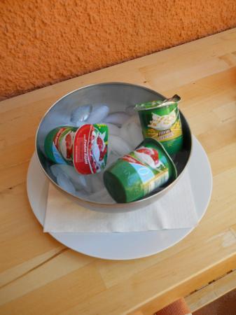 Watapana B&B: yoghurt on ice