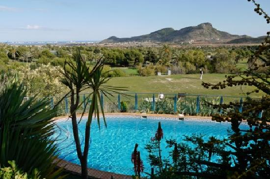 Villas La Manga: View looking over the golf course towards the Mar Menor