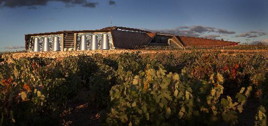 Burgos, Spanien: Bodegas Portia. Perspectiva lateral