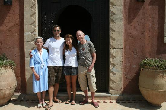 Villa Gonatouki: Myself, my boyfriend and our new Moroccan family, Bruno and 'Grand-mere'