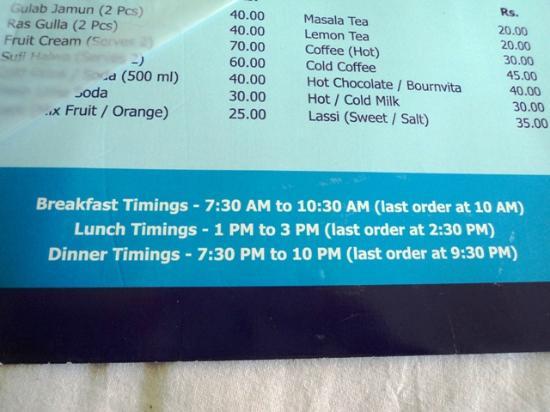 Maya Regency Hotel: hope u get food as per d mentioned timmings ...