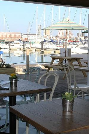The Boat House Cafe Gosport Marina: what a beautiful view.....