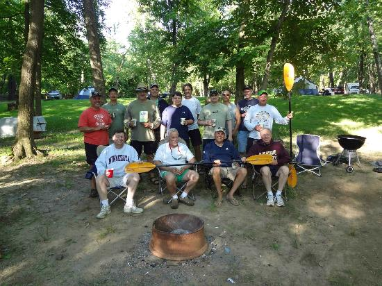 Bloomsburg, PA: our camping/kayak group