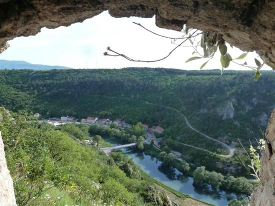 View of town from Knin Fortress
