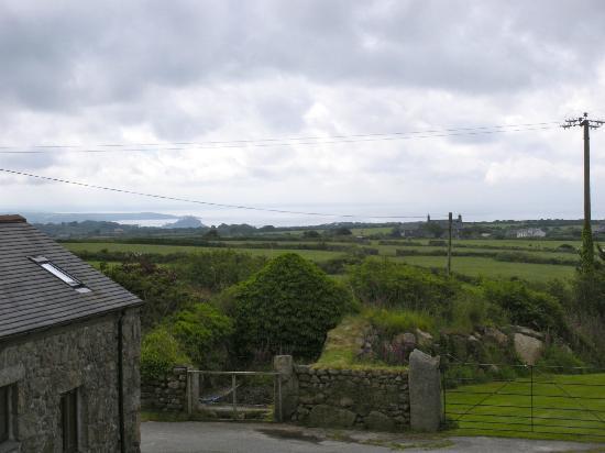 Boskednan Farm: View over Mounts Bay