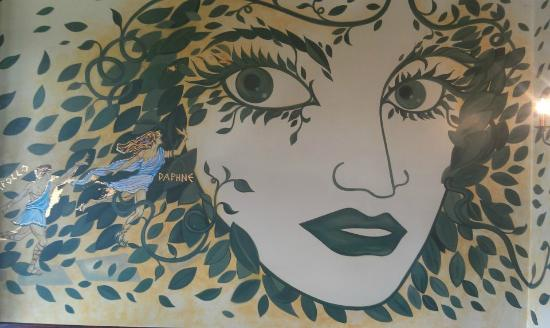 Daphne Restaurant: part of the wall Mural