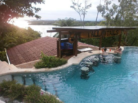 Panama Big Game Fishing Club Day Tours: Club pool, swim-up bar and TV