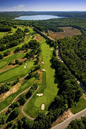 Manitou Passage Golf Club: A view from above...