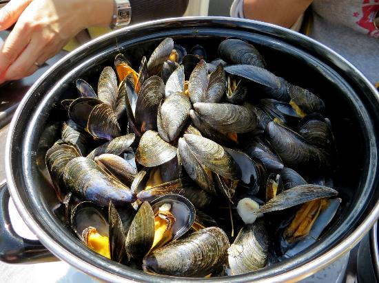 L'ardoise : mussels