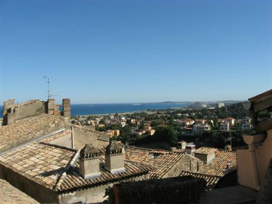 Cagnes-sur-Mer, France: view of the Med from a rooftop terrace