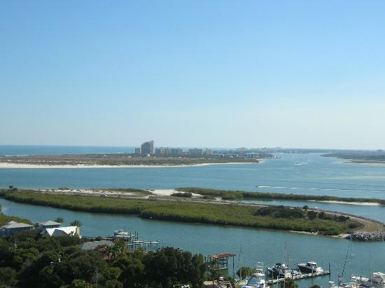 Ponce de Leon Inlet Lighthouse & Museum: Across the Inlet to New Smyrna Beach from the top