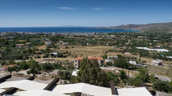 Lithos Traditional Villas: View from the terrace over Karystos
