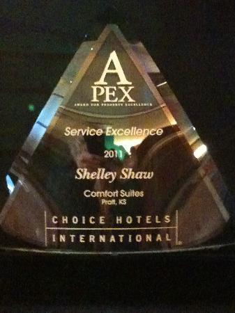 Comfort Suites : 2011 Service Excellence Award