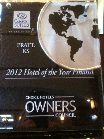 Comfort Suites : 2012 Hotel of the Year Finalist