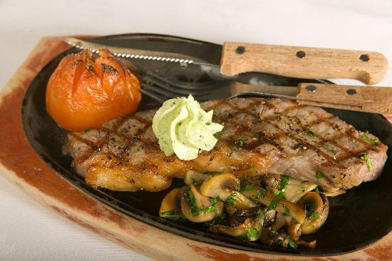 Glenfinnan House Hotel Restaurant: Sirloin steak