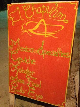 El Chapulim: Sidewalk Sign