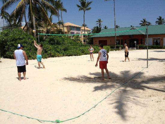 Ocean Blue Sand Beach Volleyball And Soccer Areas