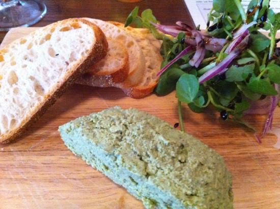 The Spark Lichfield: spinach and nutmeg pate