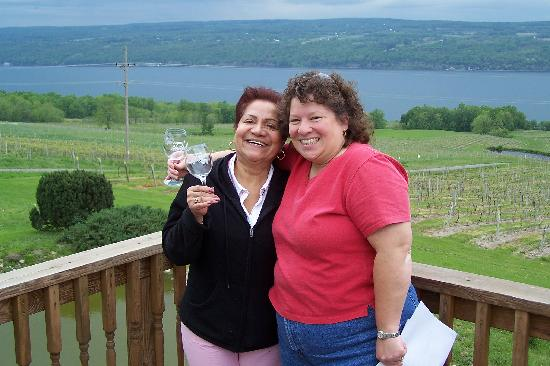 Seneca Lake Wine Trail : Wife and Mother-in-law enjoying the wine trail.