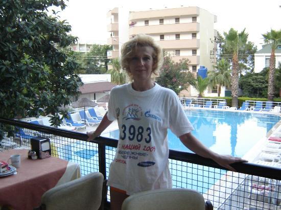 Hotel Adler: вид на бассейн