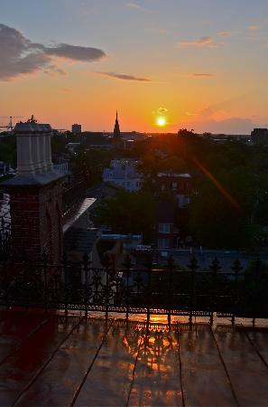 Wentworth Mansion: Sunrise from Cupola