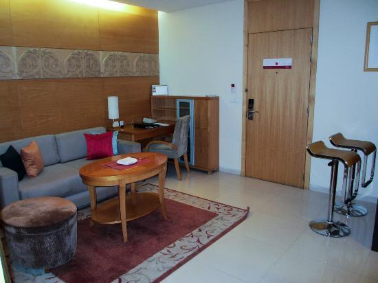 Living room and door