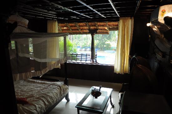 Akhil Beach Resort: view from inside the herritage cottage