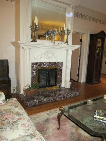 The Yellow House on Plott Creek Road: Fireplace downstairs