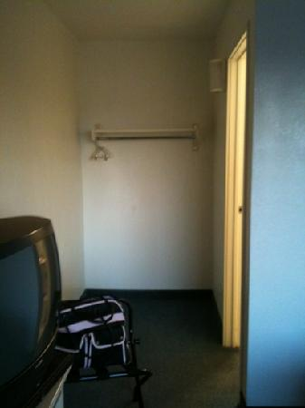 Americas Best Value Inn- Amarillo Airport/Grand Street: in front of bathroom to hang clothes