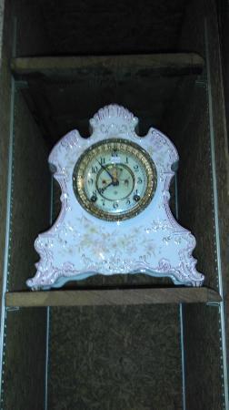 Art In Motion Vintage Motorcycle Museum: one of several clocks