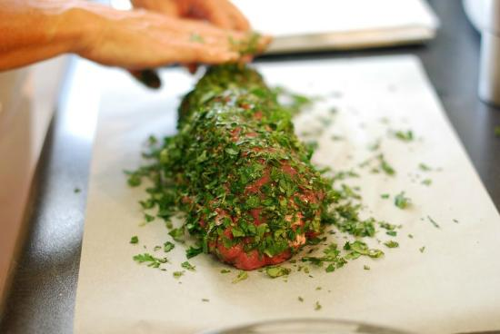 Life's a Feast: Preparing the Herb Crusted Fillet of Beef (xmas class)