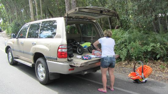 Safari 4WD Hire Day Tours: Lots of trunk space.
