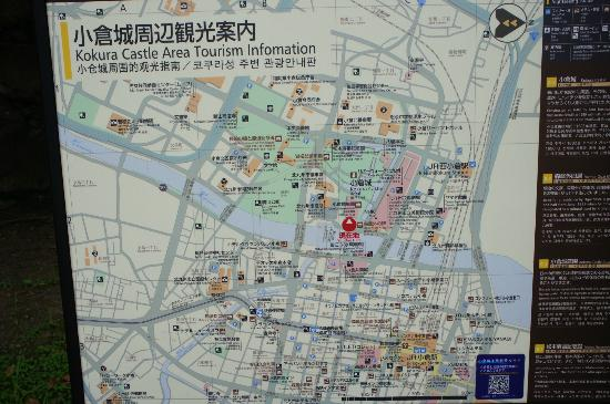 Map of kokura Picture of Kokura Castle Kitakyushu TripAdvisor