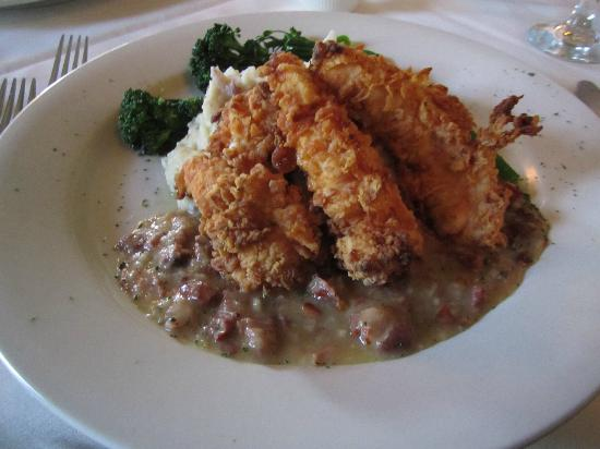 Monocacy Crossing : Buttermilk Chicken with Tasso Gravy