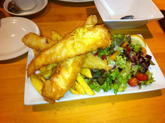 Chipwick: Goujons of Cod, Chips and Salad
