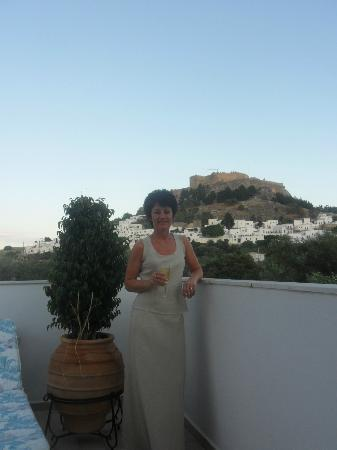 Villa Galini Lindos: View from Apt No 3 roof terrace