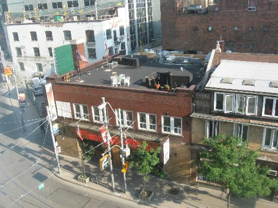 view of dundas st from room picture of bond place hotel. Black Bedroom Furniture Sets. Home Design Ideas