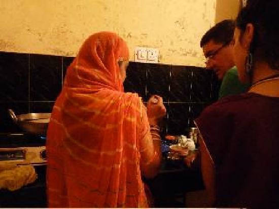 Cooking demostration in Supyar Mahal