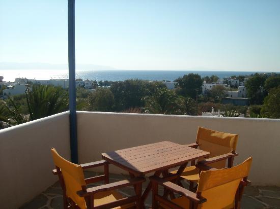 Albatross Hotel: Grande terrasse privée avec vue sur la mer et la piscine