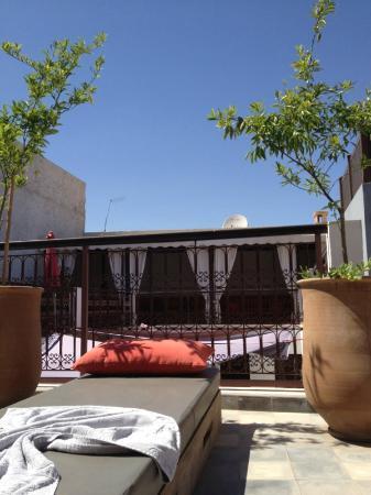 Riad Badi: terrasse