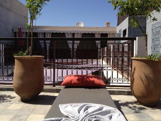 Riad Badi: terrasse du Riad