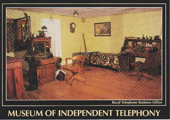 Heritage Center of Dickinson County : Postcard from the telephone museum.