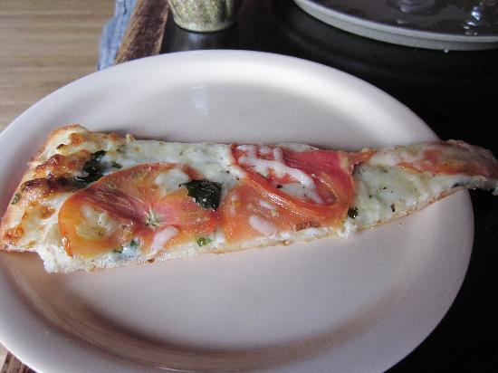 Piece: Yummy slice of veggie/garlic