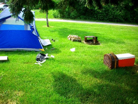 Keewaydin State Park campground: Camp Spot
