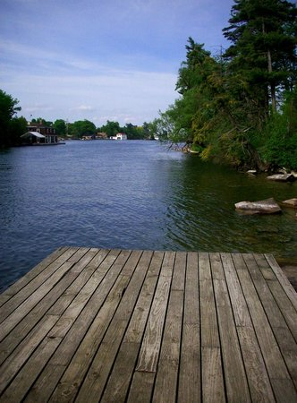 Keewaydin State Park campground: Bridge with a View