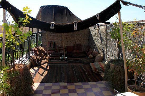 Hotel Sherazade: Terrasse