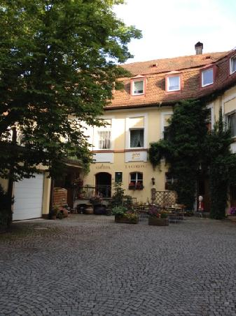 Ansbach, Germany: Our private dining courtyard