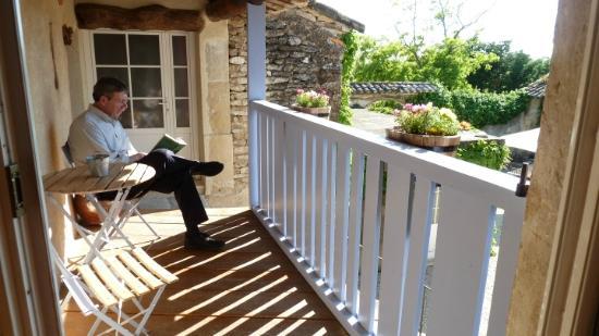 La Burliere Guest House : A pleasant spot just outside out door to enjoy a book.