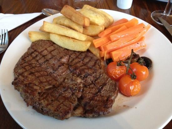 Grey Walls Restaurant : ribeye, it was amazing!!
